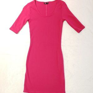 Women's - Topshop Pink Bodycon Midi Dress, Size 4